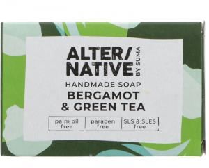 ALTERNATIVE BY SUMA HANDMADE SOAP – BERGAMOT & GREEN TEA – 95G