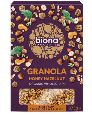 BIONA ORGANIC HONEY HAZELNUT GRANOLA – 375G