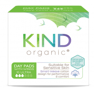 Kind Organic Day Pads With Wings 10s